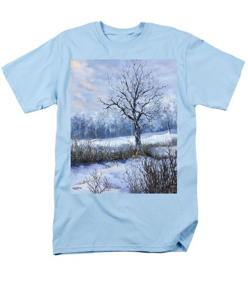 Men's T-Shirt  (Regular Fit) featuring the painting Winter Slumber by Lynne Wright