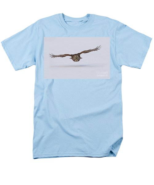 Great Gray Owl Men's T-Shirt  (Regular Fit) by Michael Cummings