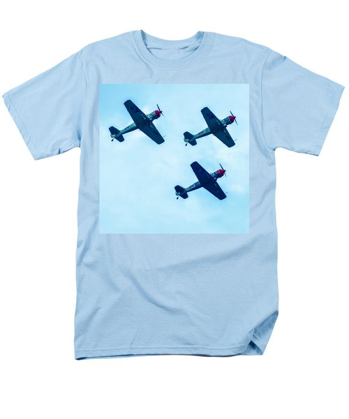 Action In The Sky During An Airshow Men's T-Shirt  (Regular Fit) by Alex Grichenko