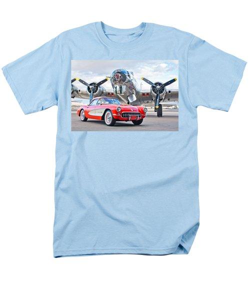 1957 Chevrolet Corvette Men's T-Shirt  (Regular Fit) by Jill Reger