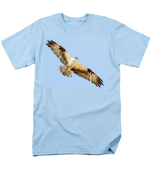 An Osprey Feeding On A Trout Men's T-Shirt  (Regular Fit) by Brian Williamson