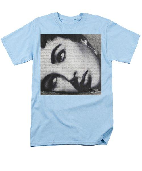 Art In The News 15-elizabeth Men's T-Shirt  (Regular Fit) by Michael Cross