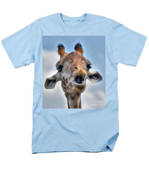Men's T-Shirt  (Regular Fit) featuring the photograph Giraffe  by Savannah Gibbs