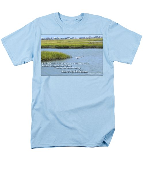 Men's T-Shirt  (Regular Fit) featuring the photograph Great Is Thy Faithfulness by Larry Bishop