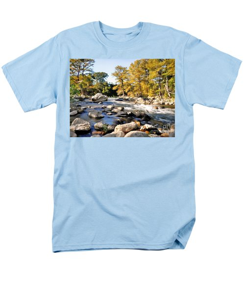 Men's T-Shirt  (Regular Fit) featuring the photograph Guadalupe River  by Savannah Gibbs