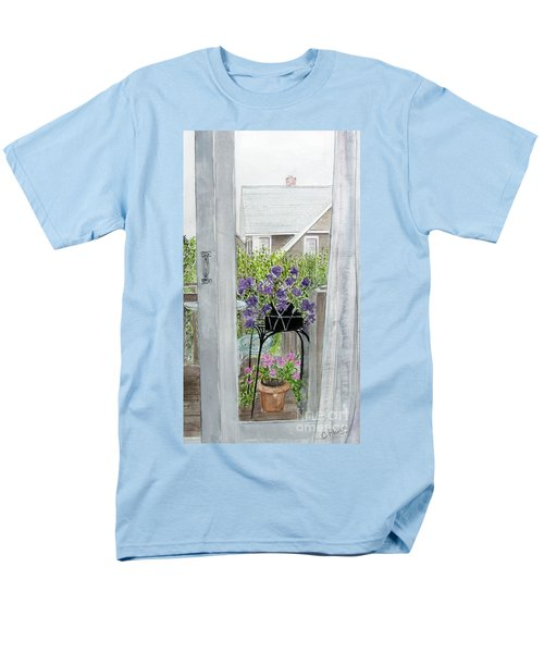 Men's T-Shirt  (Regular Fit) featuring the painting Nantucket Room View by Carol Flagg