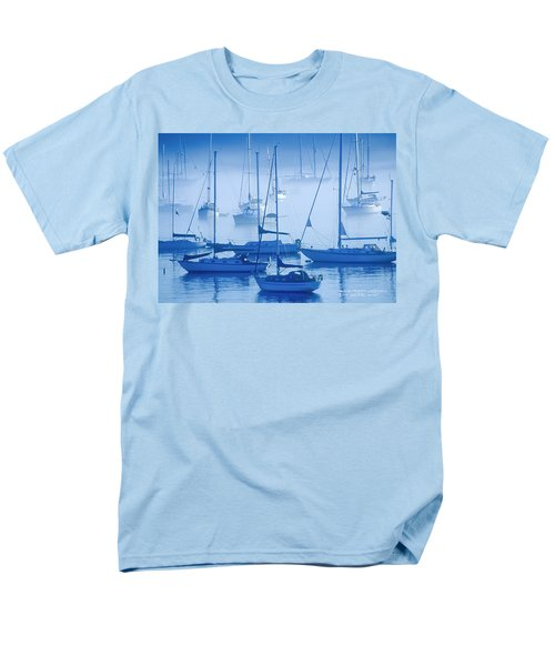 Sailboats In The Fog - Maine Men's T-Shirt  (Regular Fit) by David Perry Lawrence