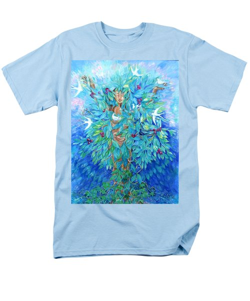 Men's T-Shirt  (Regular Fit) featuring the painting Tree Of Life  by Trudi Doyle