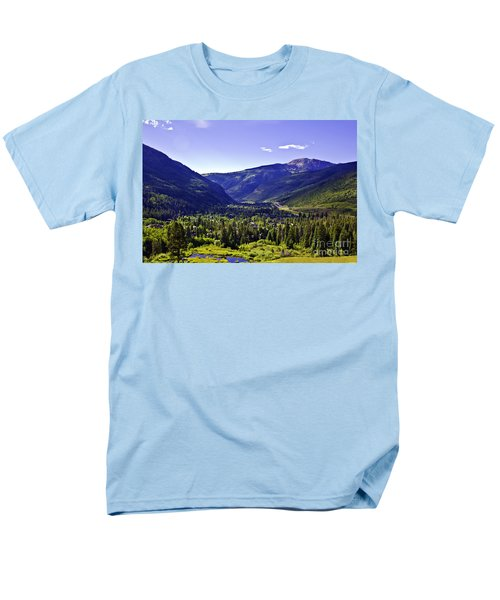 Vail Valley View Men's T-Shirt  (Regular Fit) by Madeline Ellis