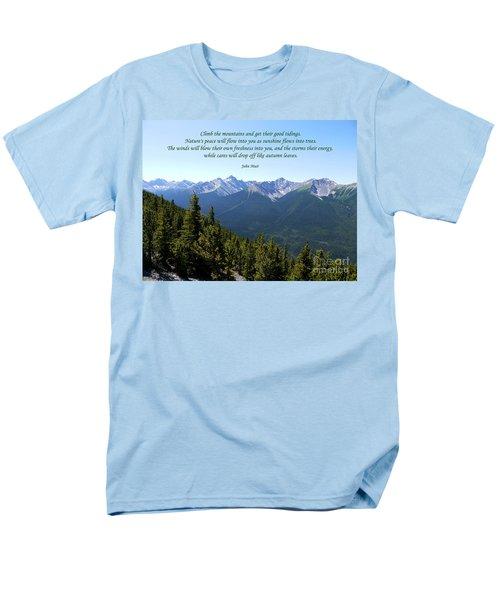 46- John Muir Men's T-Shirt  (Regular Fit) by Joseph Keane