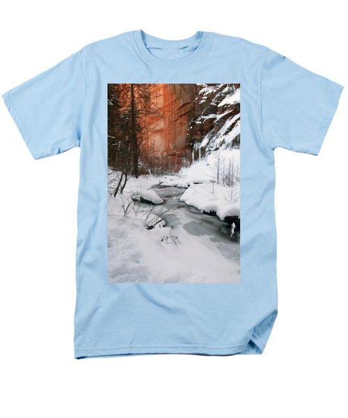 16x20 Canvas - West Fork Snow Men's T-Shirt  (Regular Fit) by Tam Ryan