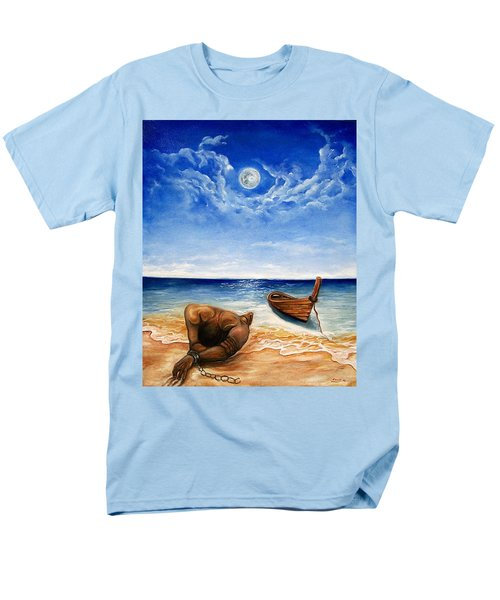 Men's T-Shirt  (Regular Fit) featuring the painting Home by Emery Franklin