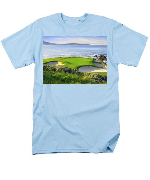 7th Hole At Pebble Beach Men's T-Shirt  (Regular Fit) by Tim Gilliland