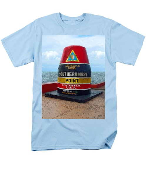 Southernmost Point Key West - 90 Miles To Cuba Men's T-Shirt  (Regular Fit) by Rebecca Korpita