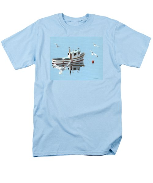 A Contemplation Of Seagulls Men's T-Shirt  (Regular Fit) by Gary Giacomelli