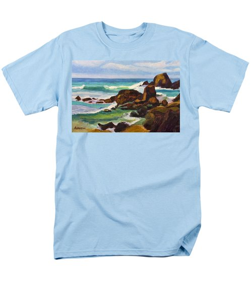 Men's T-Shirt  (Regular Fit) featuring the painting A Frouxeira Galicia by Pablo Avanzini