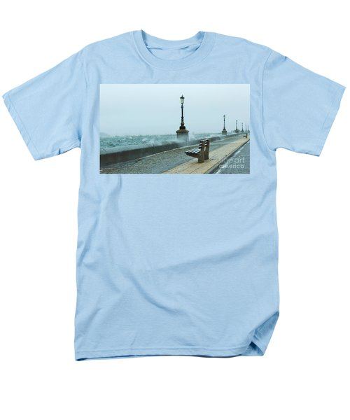 A Grey Wet Day By The Sea Men's T-Shirt  (Regular Fit)