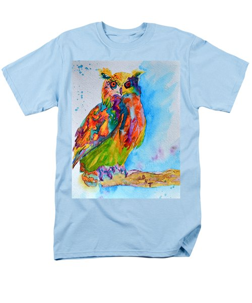 A Hootiful Moment In Time Men's T-Shirt  (Regular Fit) by Beverley Harper Tinsley