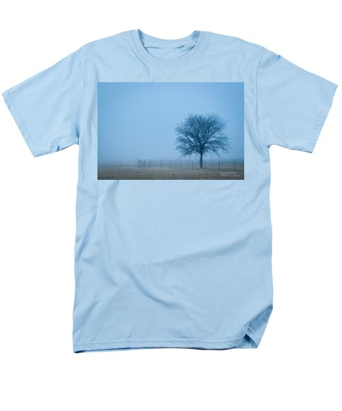 A Lone Tree In The Fog Men's T-Shirt  (Regular Fit) by David Perry Lawrence