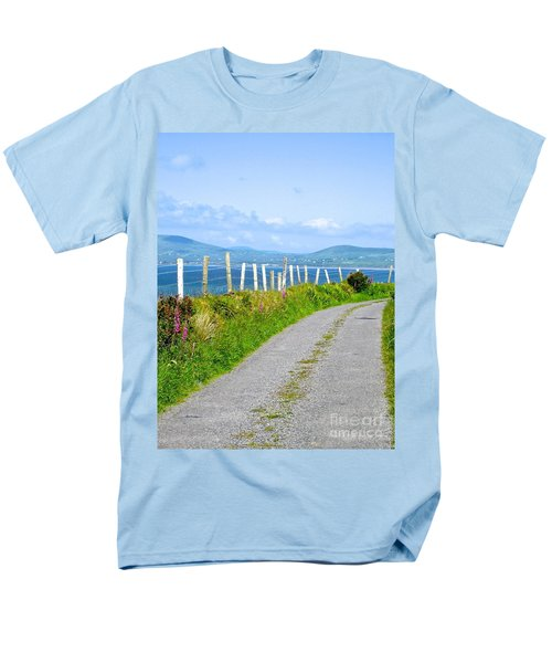 Men's T-Shirt  (Regular Fit) featuring the photograph A Road To Waterville by Suzanne Oesterling