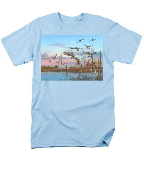Men's T-Shirt  (Regular Fit) featuring the painting A Safe Return by Mike Brown