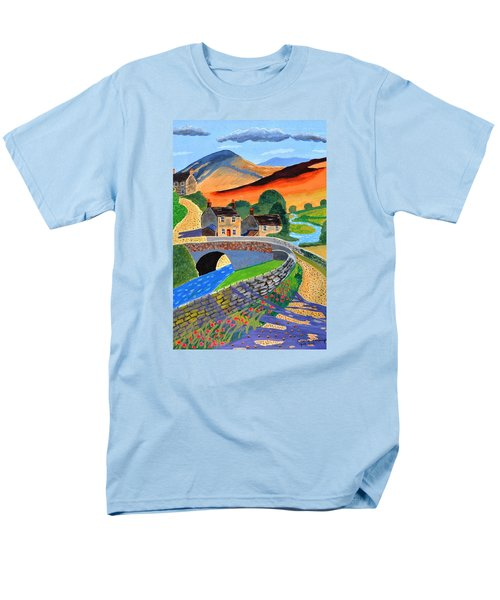a Scottish highland lane Men's T-Shirt  (Regular Fit) by Magdalena Frohnsdorff