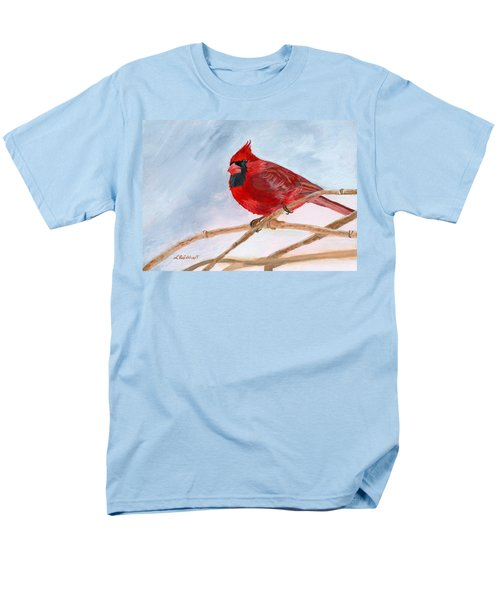 Men's T-Shirt  (Regular Fit) featuring the painting A Touch Of Red by Lynne Reichhart