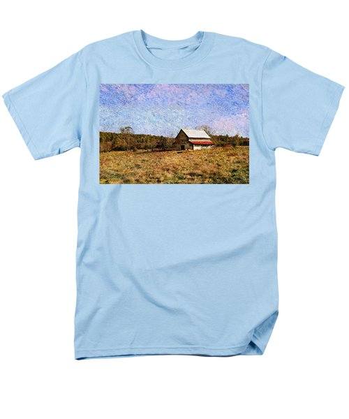 Men's T-Shirt  (Regular Fit) featuring the photograph Abandoned Barn In North Georgia by Vizual Studio