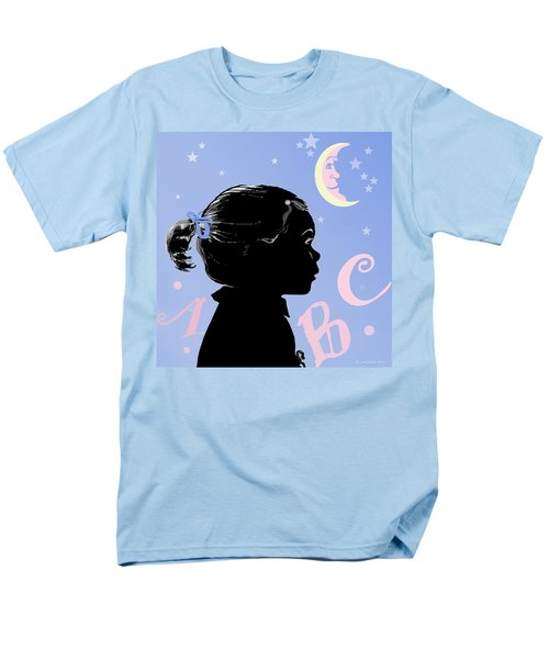 Men's T-Shirt  (Regular Fit) featuring the painting Abc - The Moon And Me by Carol Jacobs