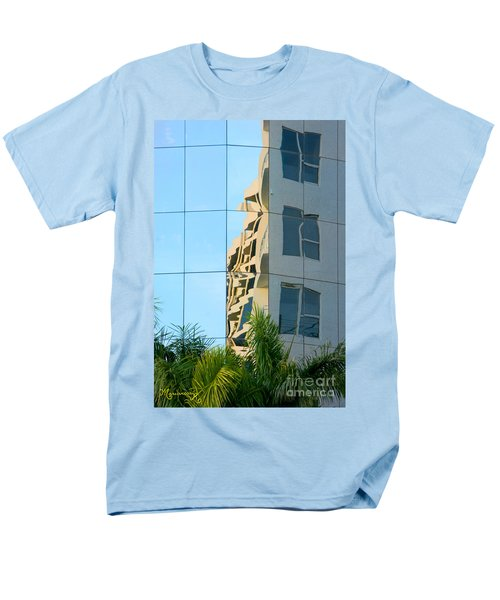 Men's T-Shirt  (Regular Fit) featuring the photograph Abstract Architectural Shapes by Mariarosa Rockefeller