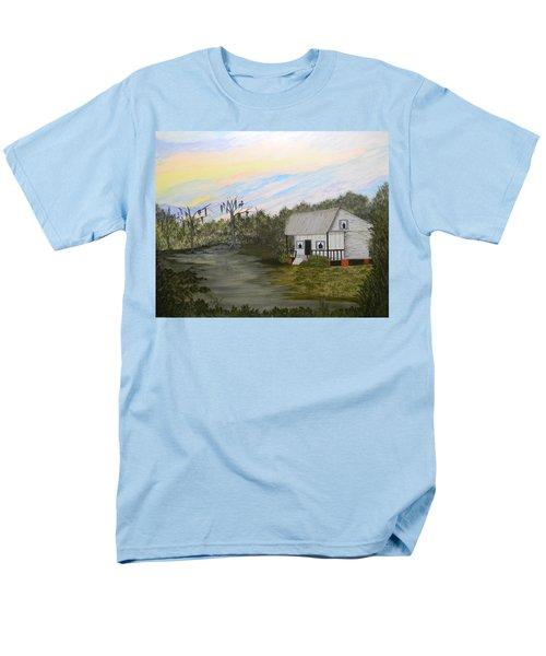 Acadian Home On The Bayou Men's T-Shirt  (Regular Fit)