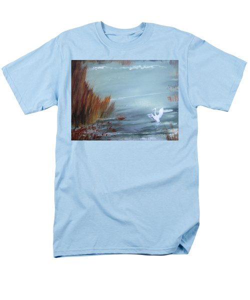 Men's T-Shirt  (Regular Fit) featuring the painting Achieving Stillness  by Laurianna Taylor