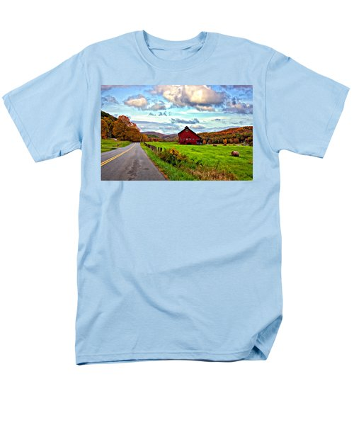 Ah...west Virginia Painted Men's T-Shirt  (Regular Fit) by Steve Harrington