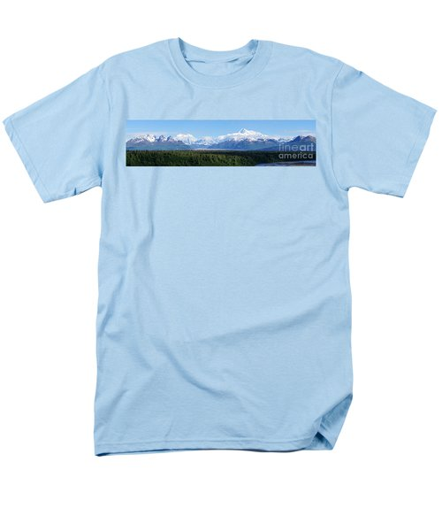Alaskan Denali Mountain Range Men's T-Shirt  (Regular Fit) by Jennifer White