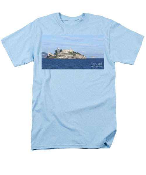Alcatraz Island Men's T-Shirt  (Regular Fit) by Mary Mikawoz