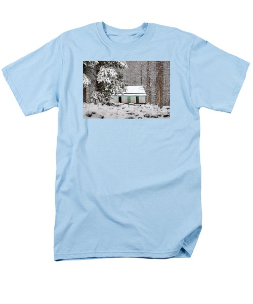 Men's T-Shirt  (Regular Fit) featuring the photograph Alfred Reagan's Home In Snow by Debbie Green
