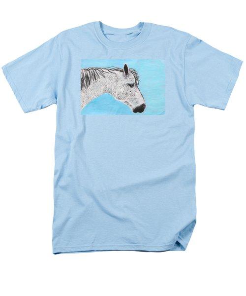Men's T-Shirt  (Regular Fit) featuring the painting Alvaro Stallion by Jeanne Fischer