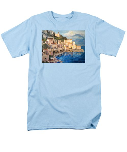 Men's T-Shirt  (Regular Fit) featuring the painting Amalfi Coast Highway by Alan Lakin
