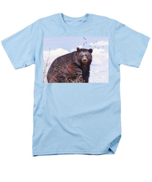 American Black Bear Men's T-Shirt  (Regular Fit) by Janice Rae Pariza
