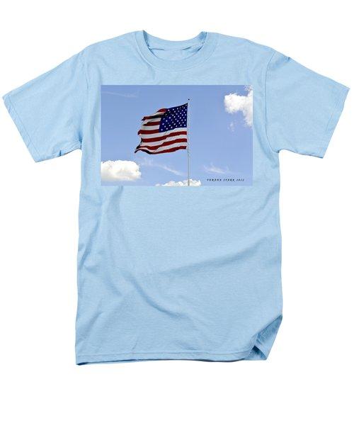 Men's T-Shirt  (Regular Fit) featuring the photograph American Flag by Verana Stark