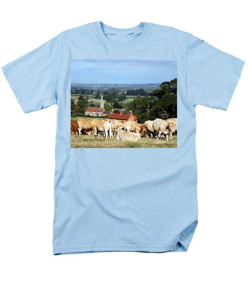 Men's T-Shirt  (Regular Fit) featuring the photograph An English Summer Landscape by Linsey Williams