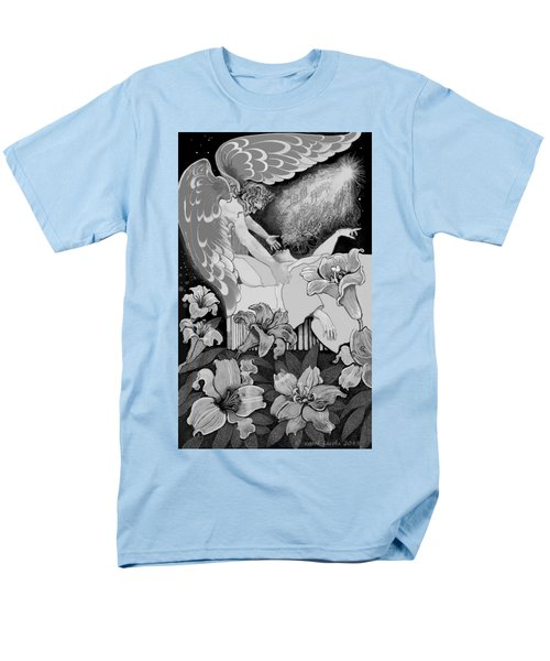 Men's T-Shirt  (Regular Fit) featuring the digital art Angel Of Death Vision by Carol Jacobs