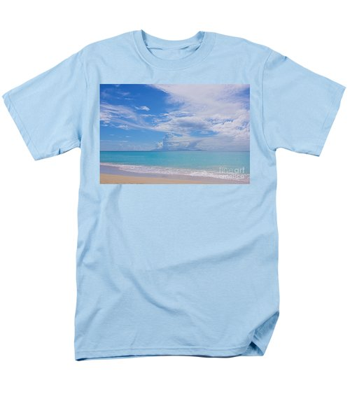 Antigua View Of Montserrat Volcano Men's T-Shirt  (Regular Fit) by Olga Hamilton