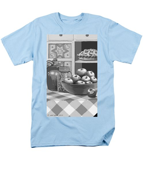 Men's T-Shirt  (Regular Fit) featuring the digital art Apples Four Ways by Carol Jacobs