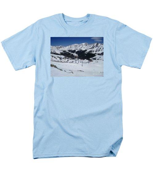 Arapahoe Basin June 2  Men's T-Shirt  (Regular Fit) by Fiona Kennard