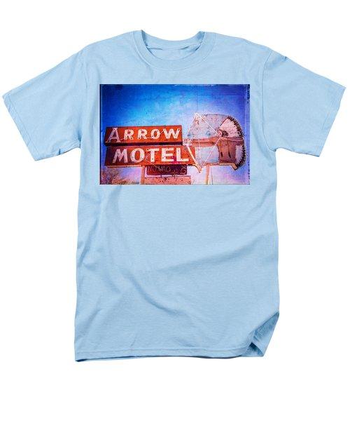 Men's T-Shirt  (Regular Fit) featuring the photograph Arrow Motel by Steven Bateson