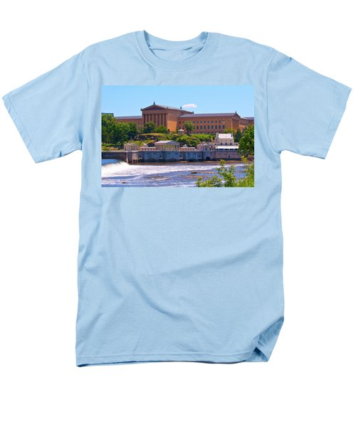 Art Museum And Fairmount Waterworks - Hdr Men's T-Shirt  (Regular Fit) by Lou Ford