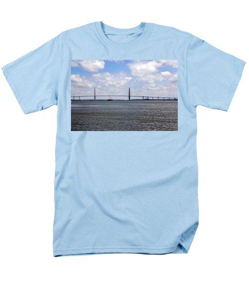 Men's T-Shirt  (Regular Fit) featuring the photograph Arthur Ravenel Bridge by Sennie Pierson