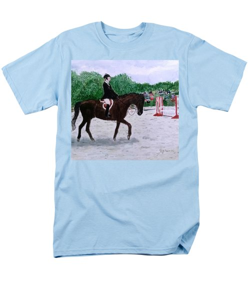 At The June Fete Men's T-Shirt  (Regular Fit) by Vickie G Buccini