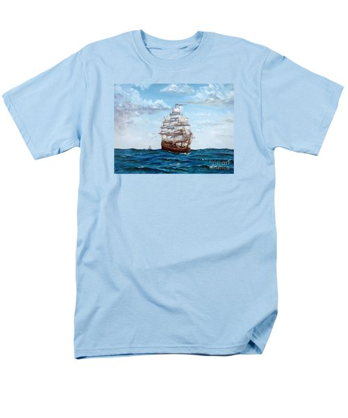 Men's T-Shirt  (Regular Fit) featuring the painting Atlantic Crossing  by Lee Piper